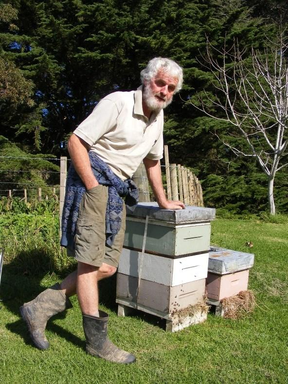 Brian Alexander at work amongst the bees